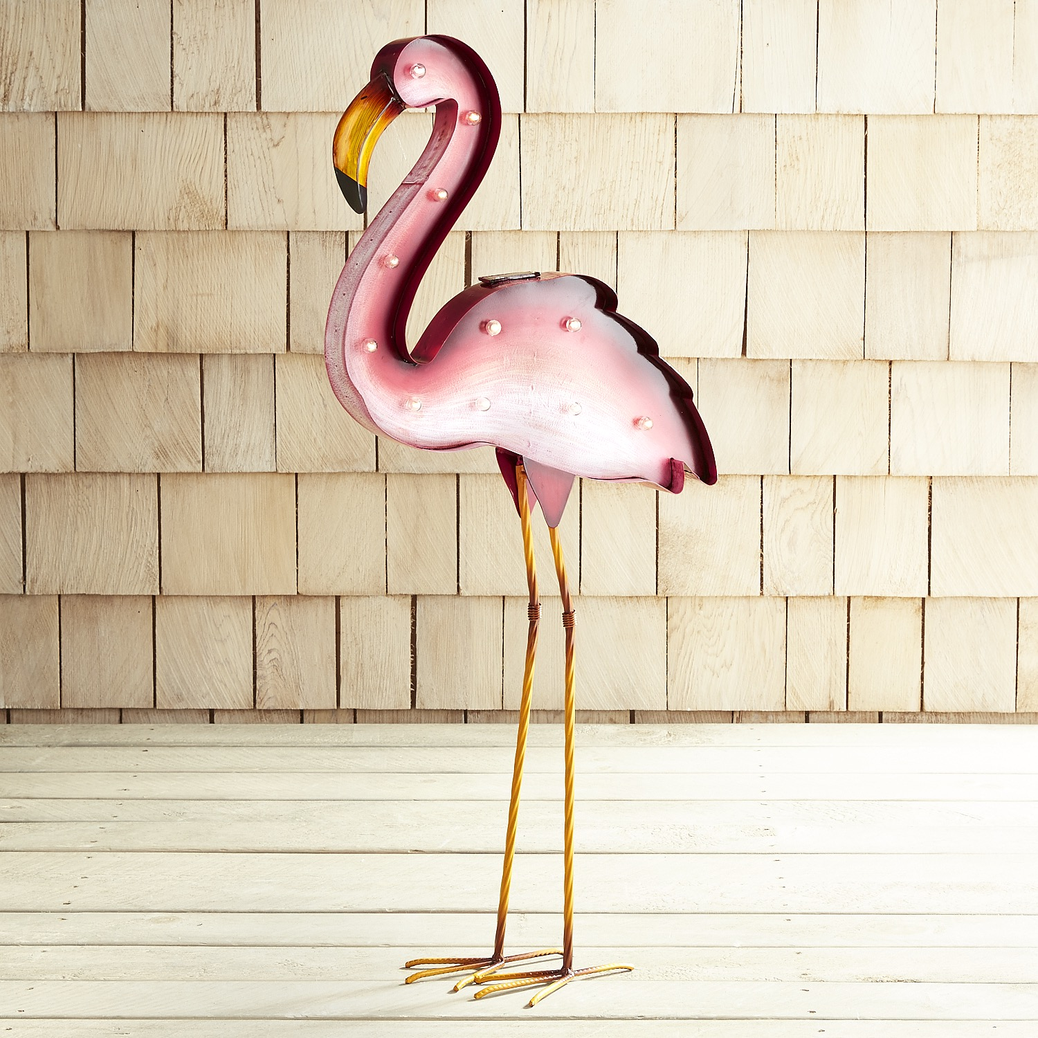 LED Solar Flamingo