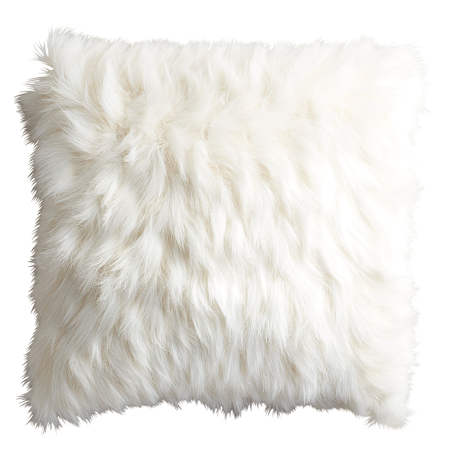 Oversized Ivory Faux Fur Eyelash Pillow