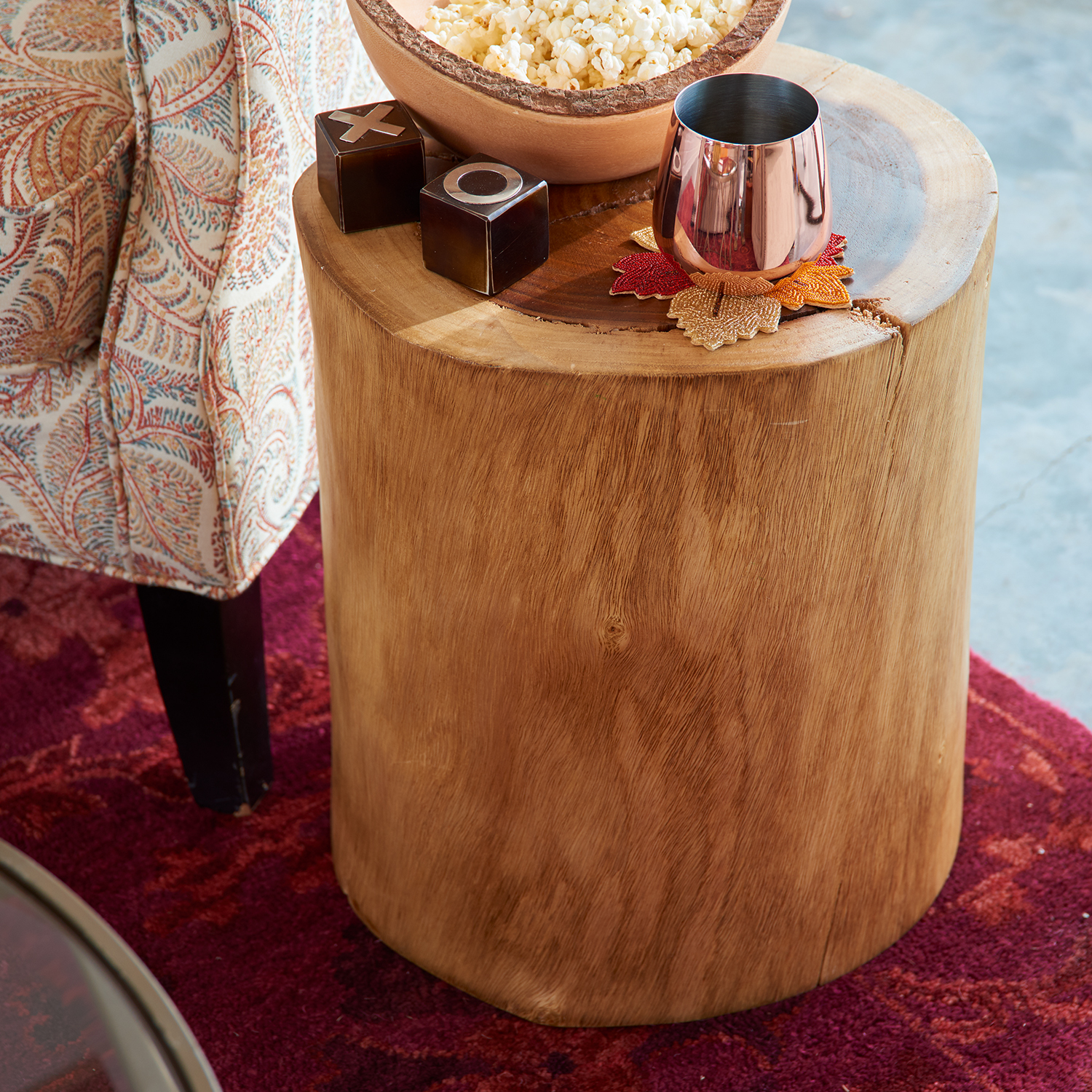 Natural Tree Stump Accent Table - Pier1 Imports