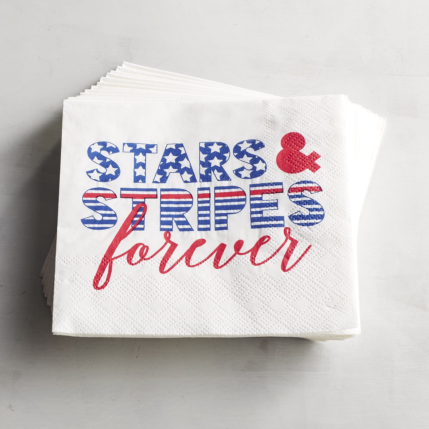 Stars & Stripes Paper Cocktail Napkins