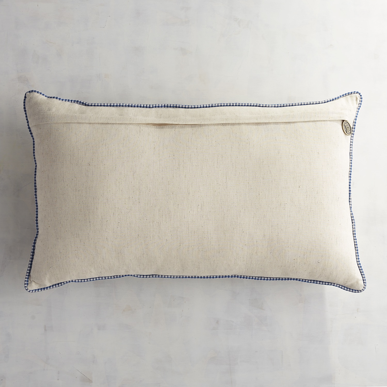 Beaded Lobster Trio Lumbar Pillow