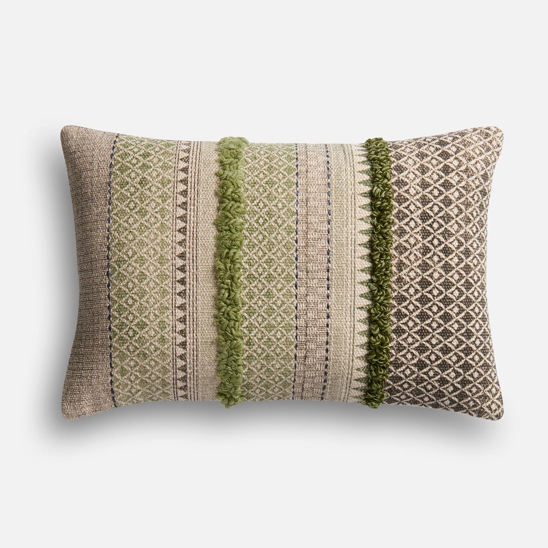 Magnolia Home Norma Sage & Gray Lumbar Pillow