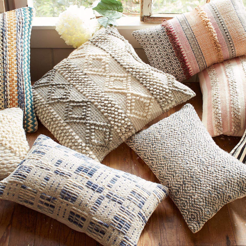 Magnolia Home Joslin Gray & Ivory Oversized Pillow