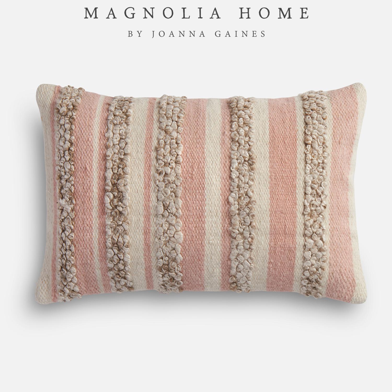 Magnolia Home Zander Pink & Ivory Oversized Pillow