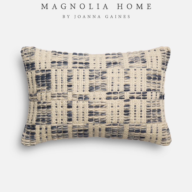 Magnolia Home London Blue & Ivory Lumbar Pillow