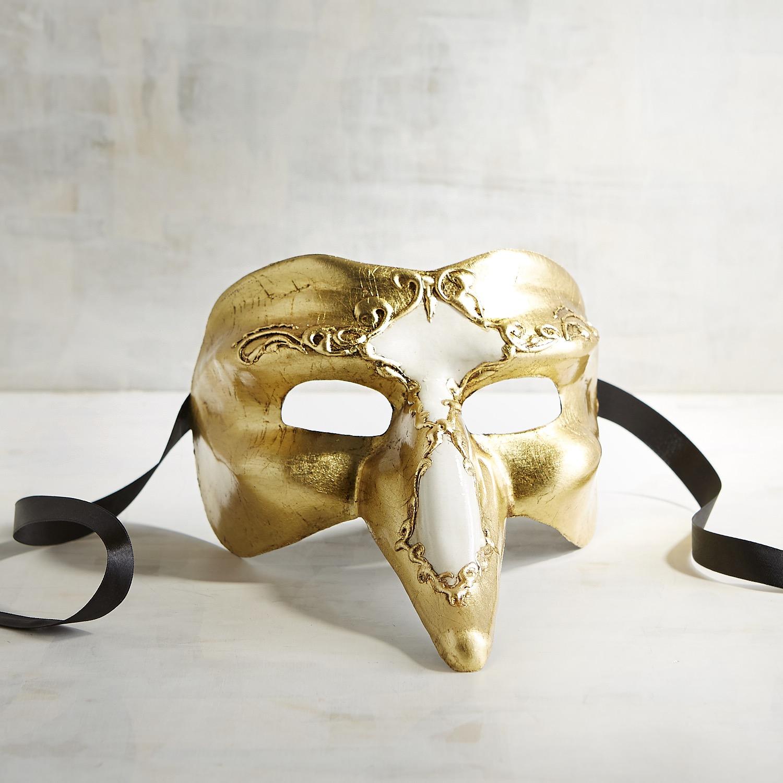 Gold & White Captain Italian Masquerade Mask