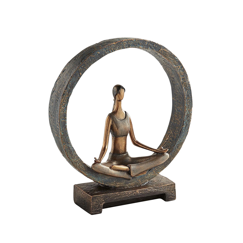 Modern Yoga Woman in Circle