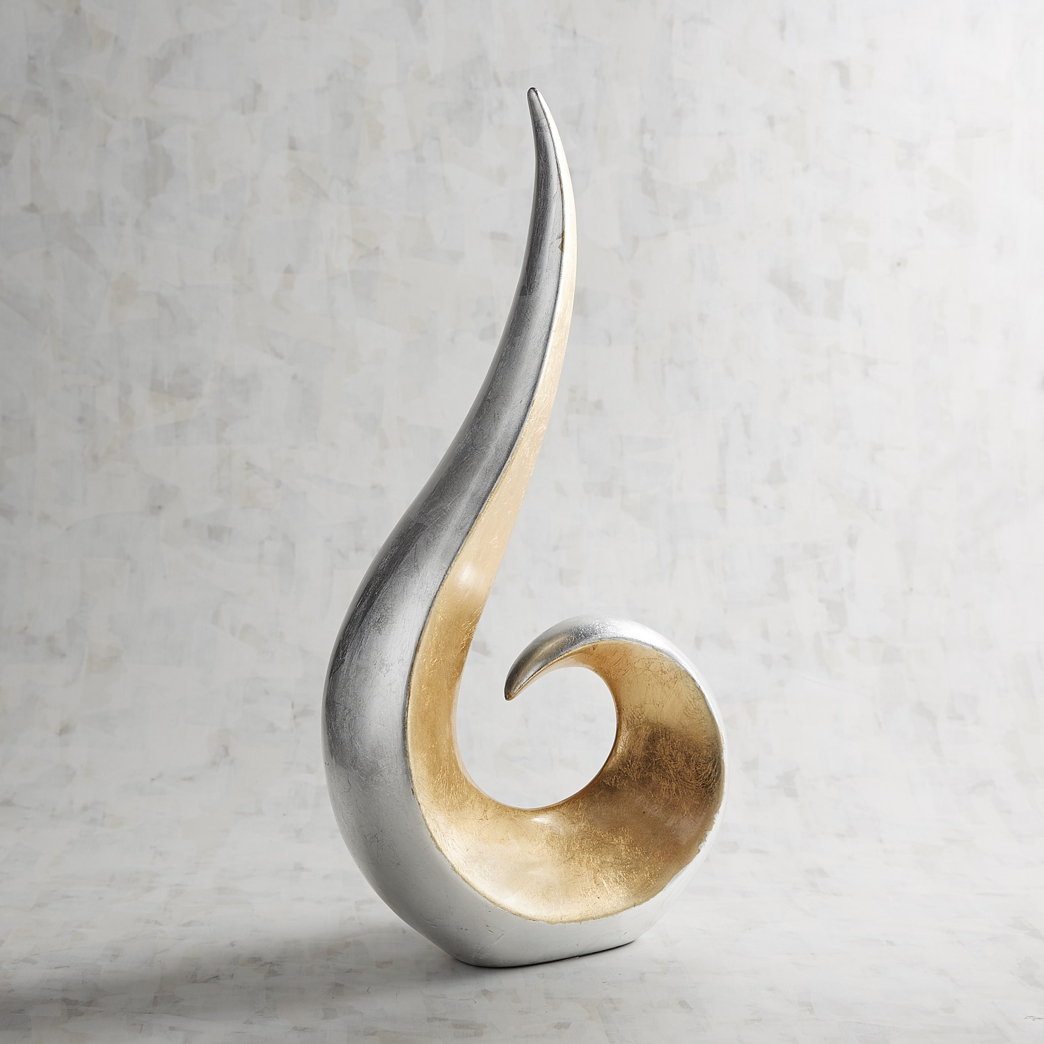 Gold & Silver Ceramic Flame