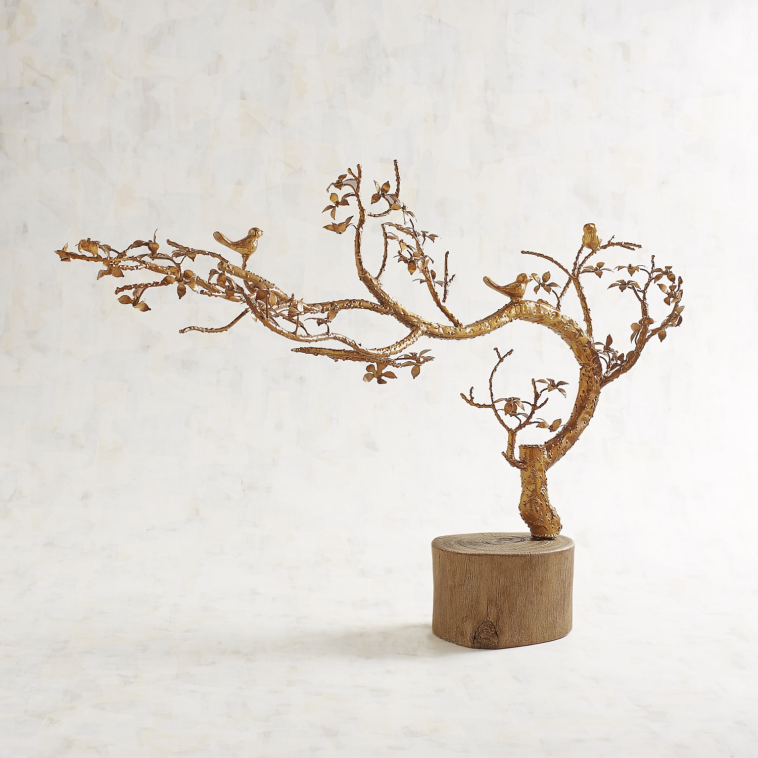 Golden Tree with Birds