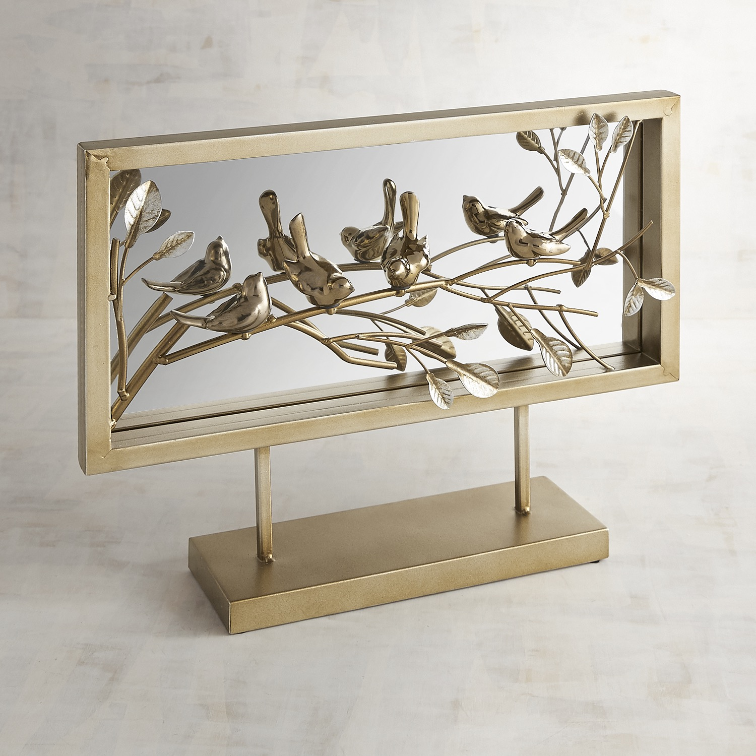 Mirror with Metal Bird Frame
