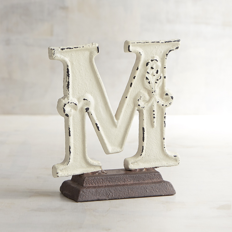 Cast Iron Monogram Letter M