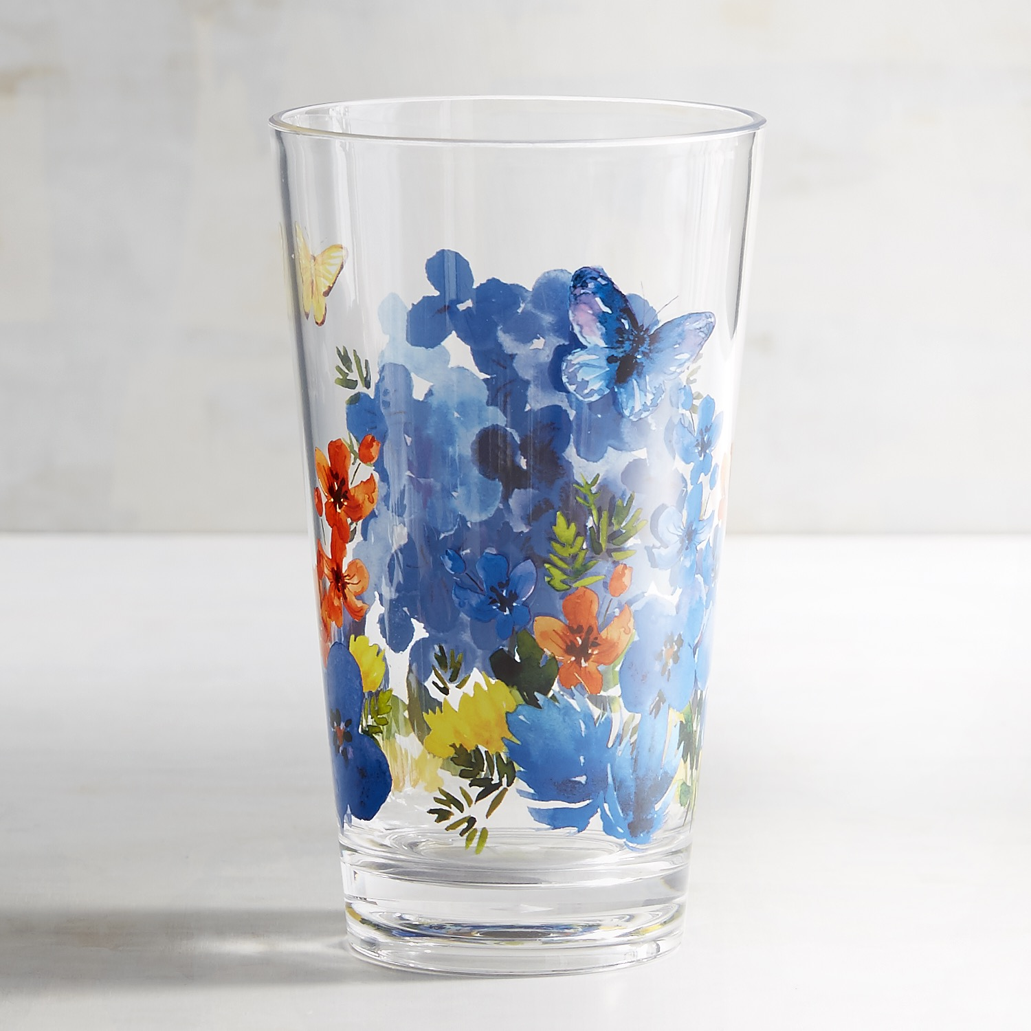 Butterfly Floral Acrylic Tumbler