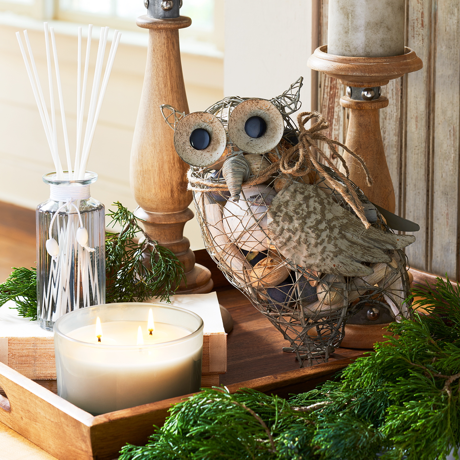 Rustic Woodlands 3-Wick Filled Candle