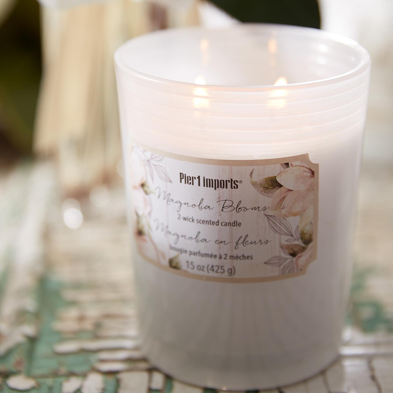 Magnolia Blooms Filled Jar Candle