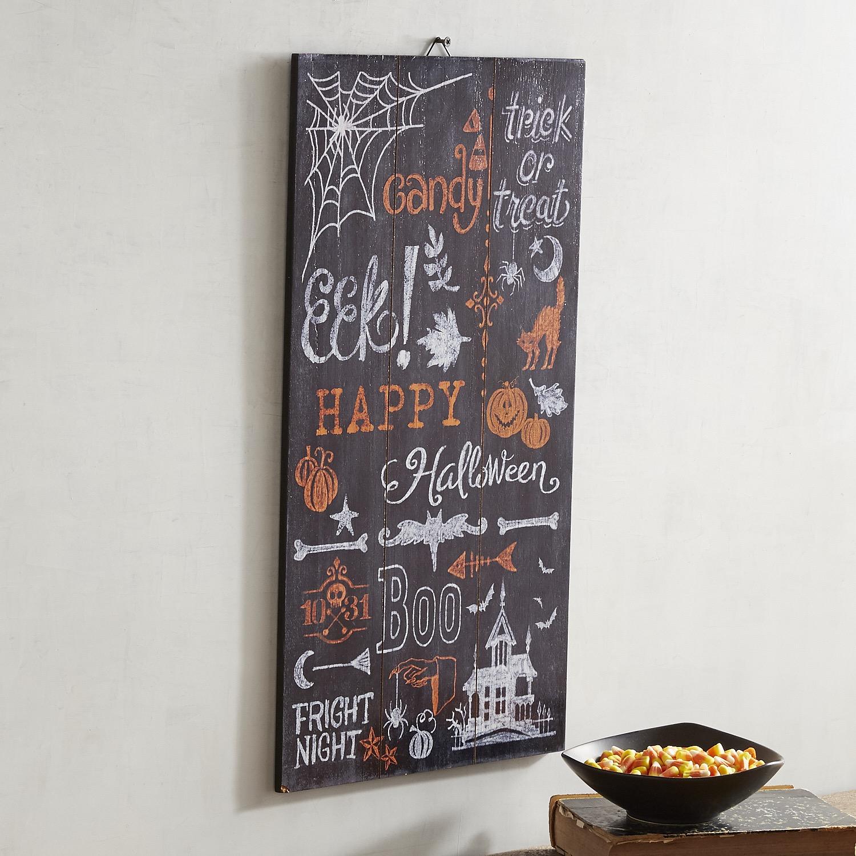 Halloween Spider Web Chalkboard Wall Decor