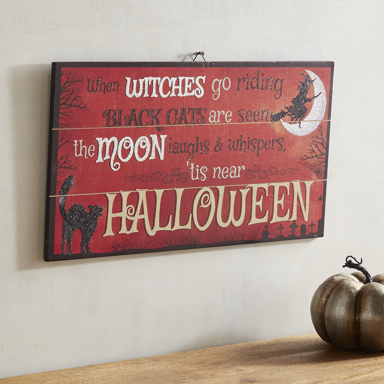 Witches Go Riding Wall Decor