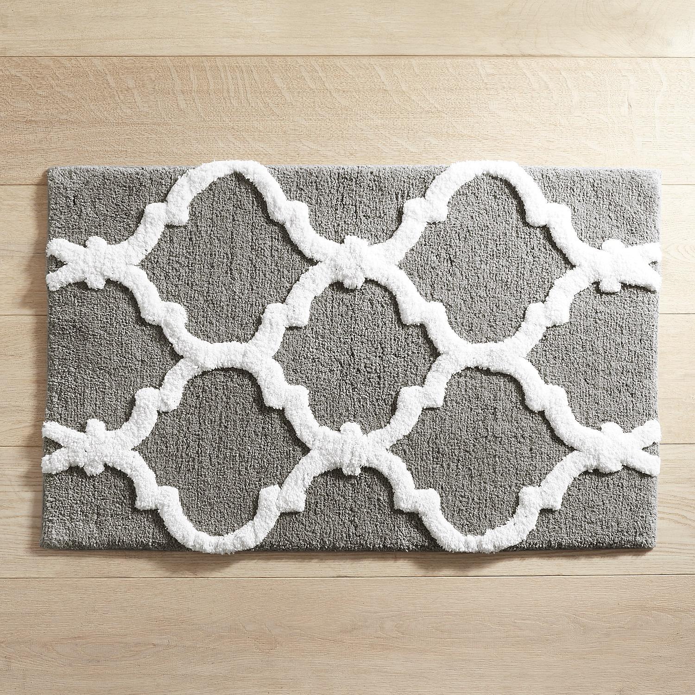 Moorish Tile Charcoal 21x34 Bath Rug