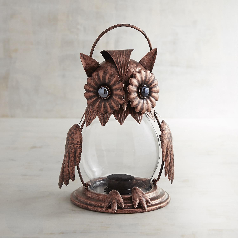 Owl Jeweled Lantern