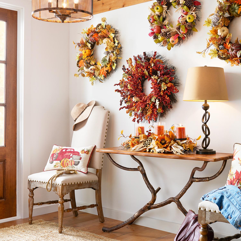 "Faux Fall Berry 25"" Wreath"