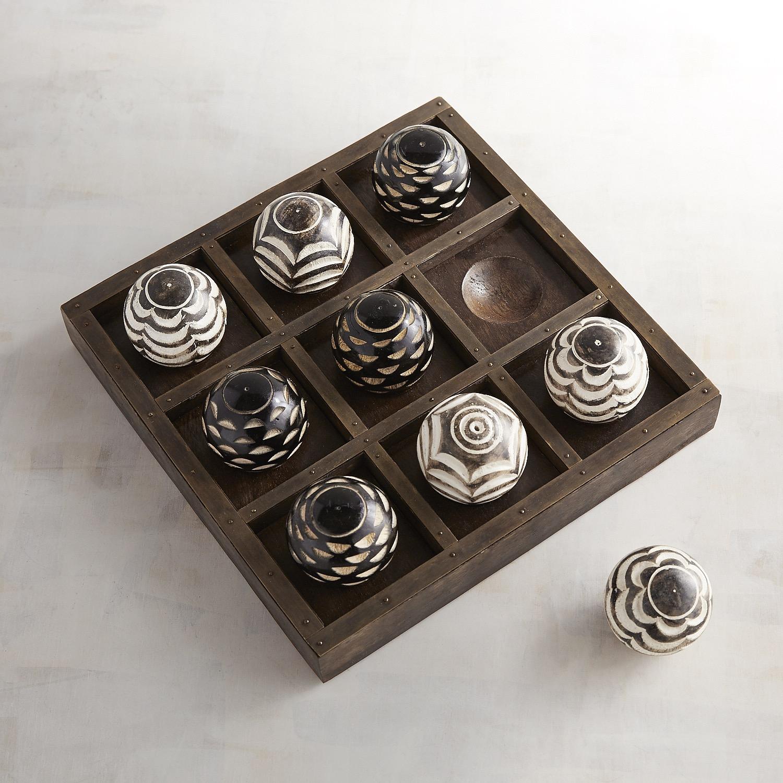 Wooden Ball Tic-Tac-Toe Set