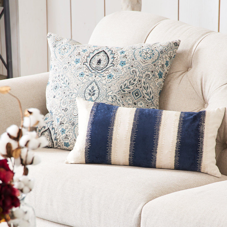 Oversized Deltara Blue Pillow