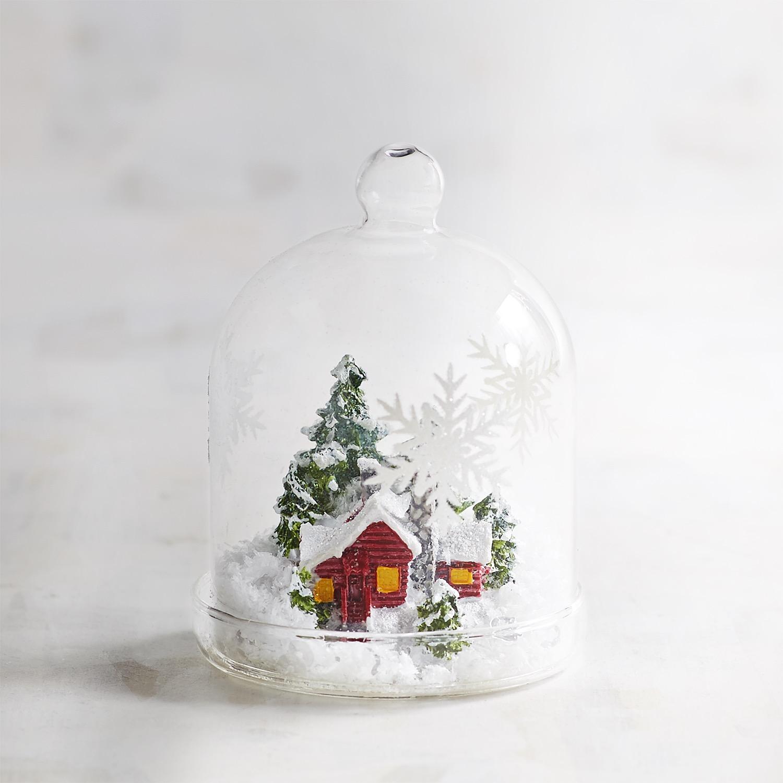 Snowy Scene Cloche Collectible