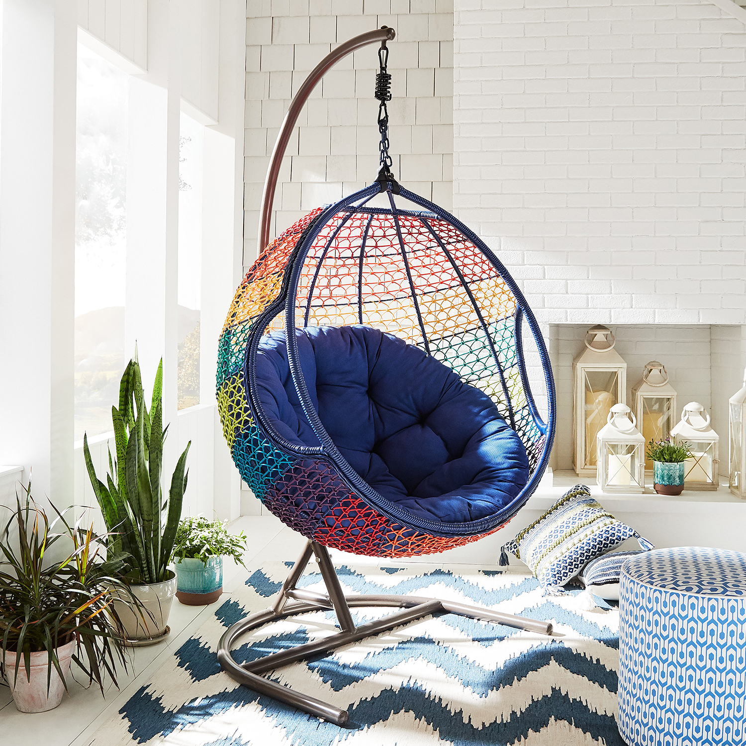 Swingasan® Rainbow Ombre Hanging Chair