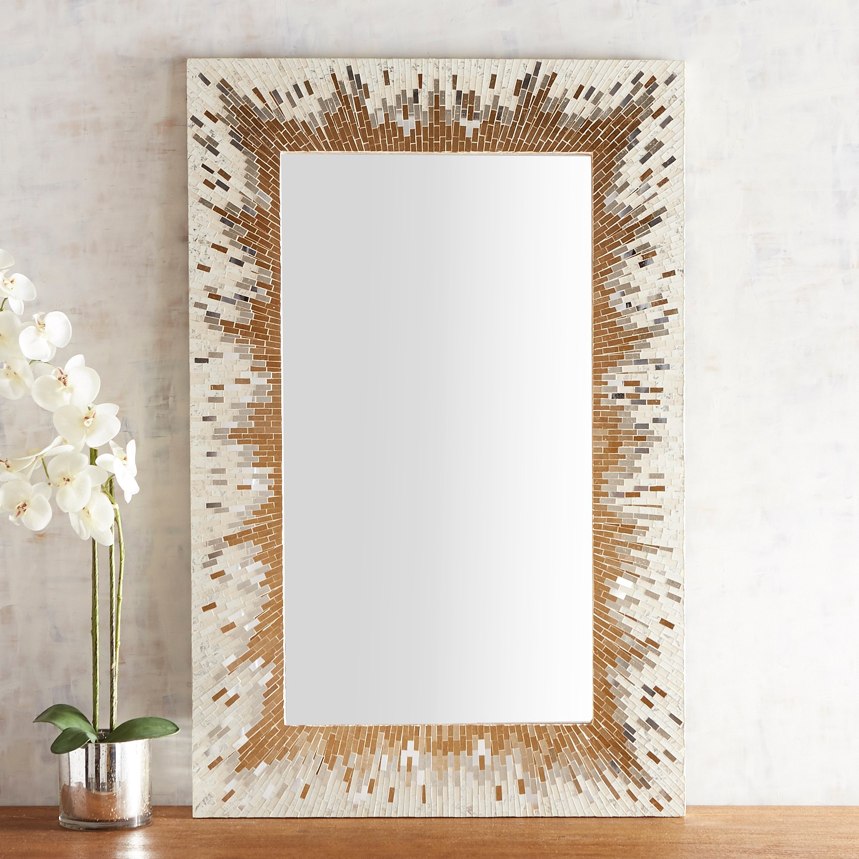 Gold Burst Mosaic Mirror
