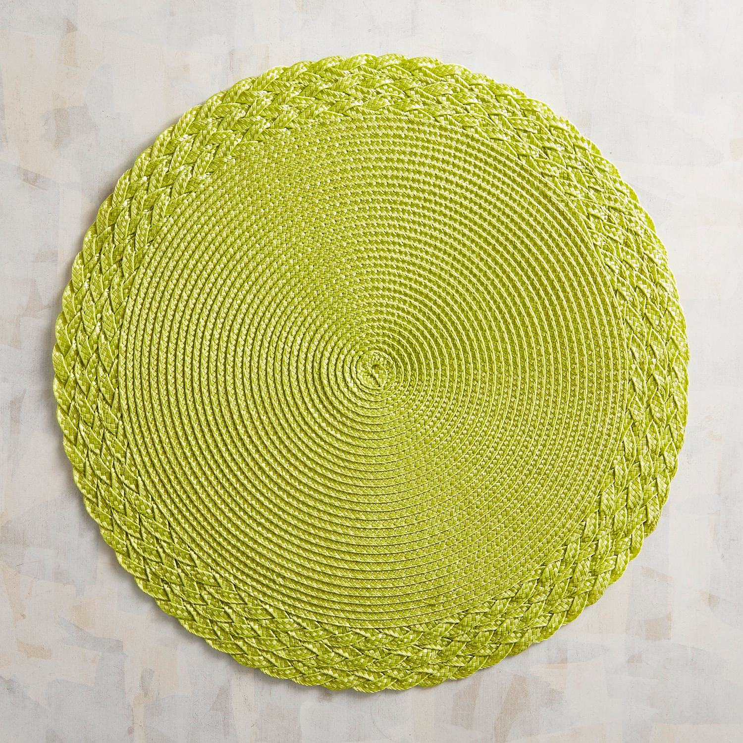 Braided Mesa Lime Green Placemat