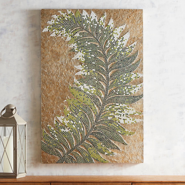 Mosaic Tropical Leaf Wall Decor
