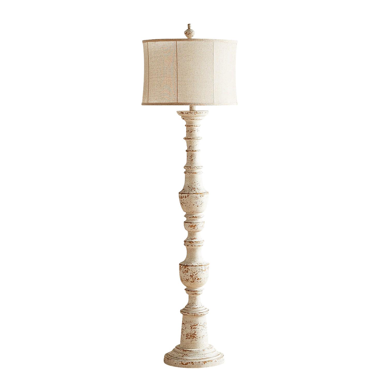 Ashton Whitewashed Floor Lamp
