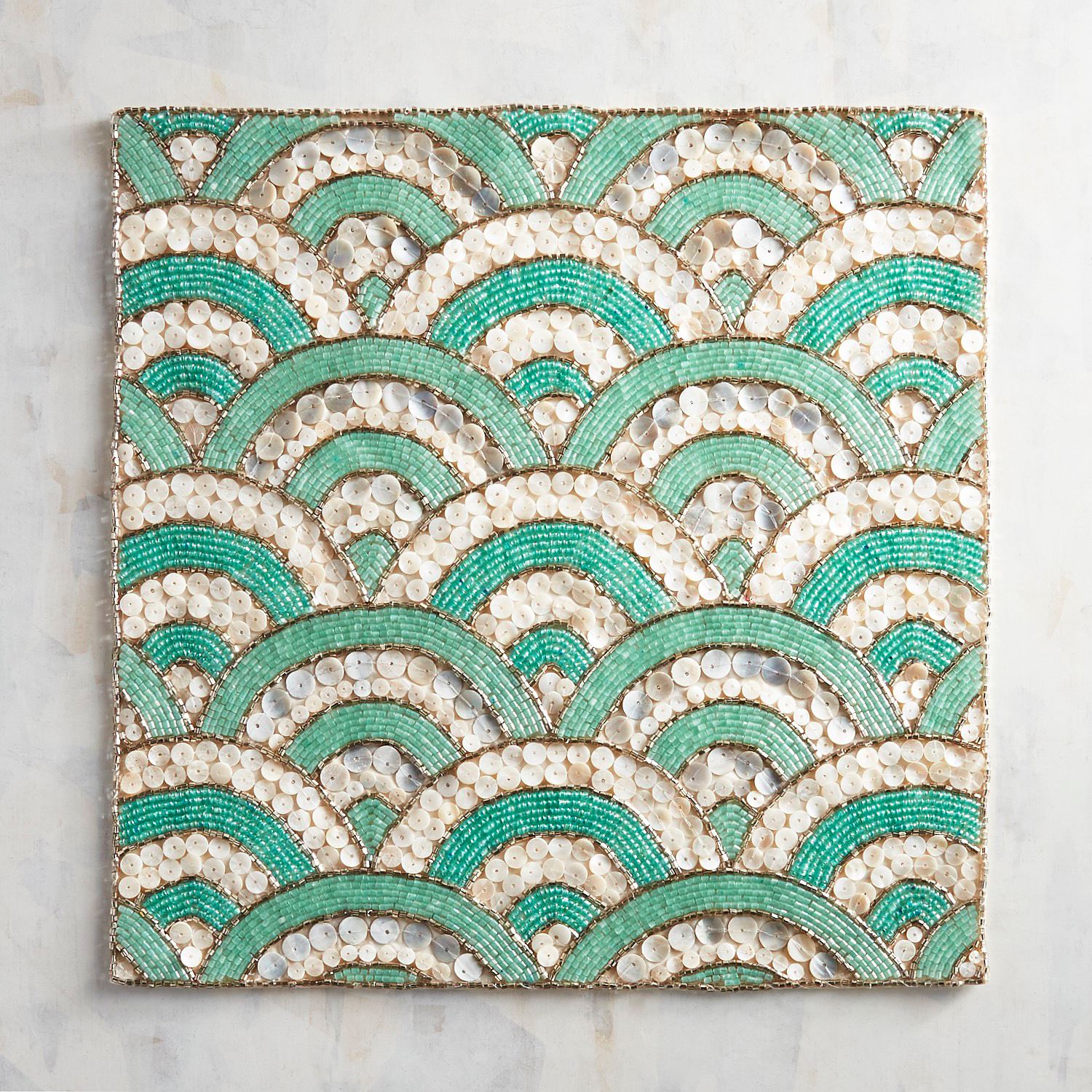 Mother-of-Pearl Mermaid Beaded Placemat