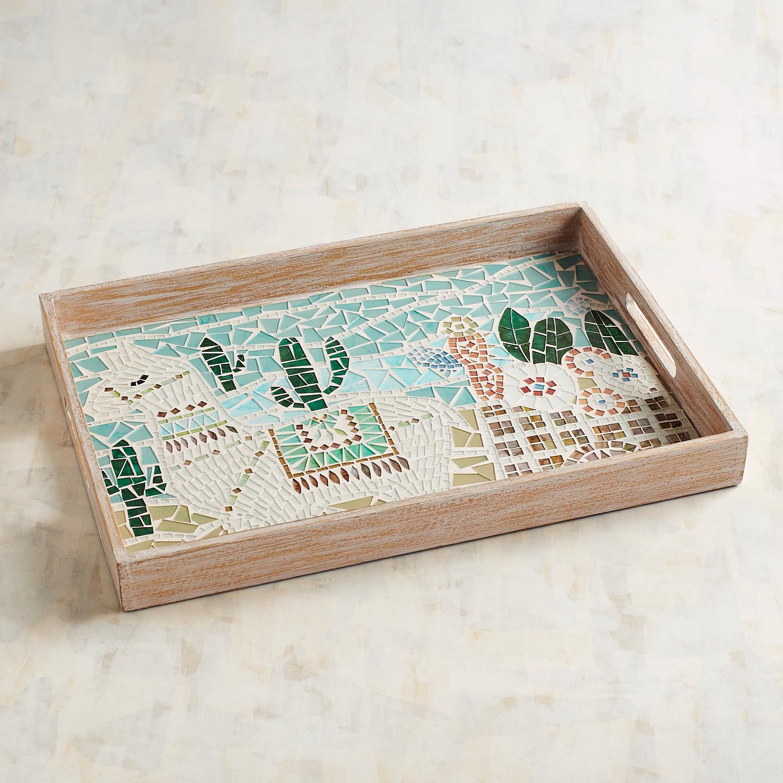 Llama Mosaic Tray
