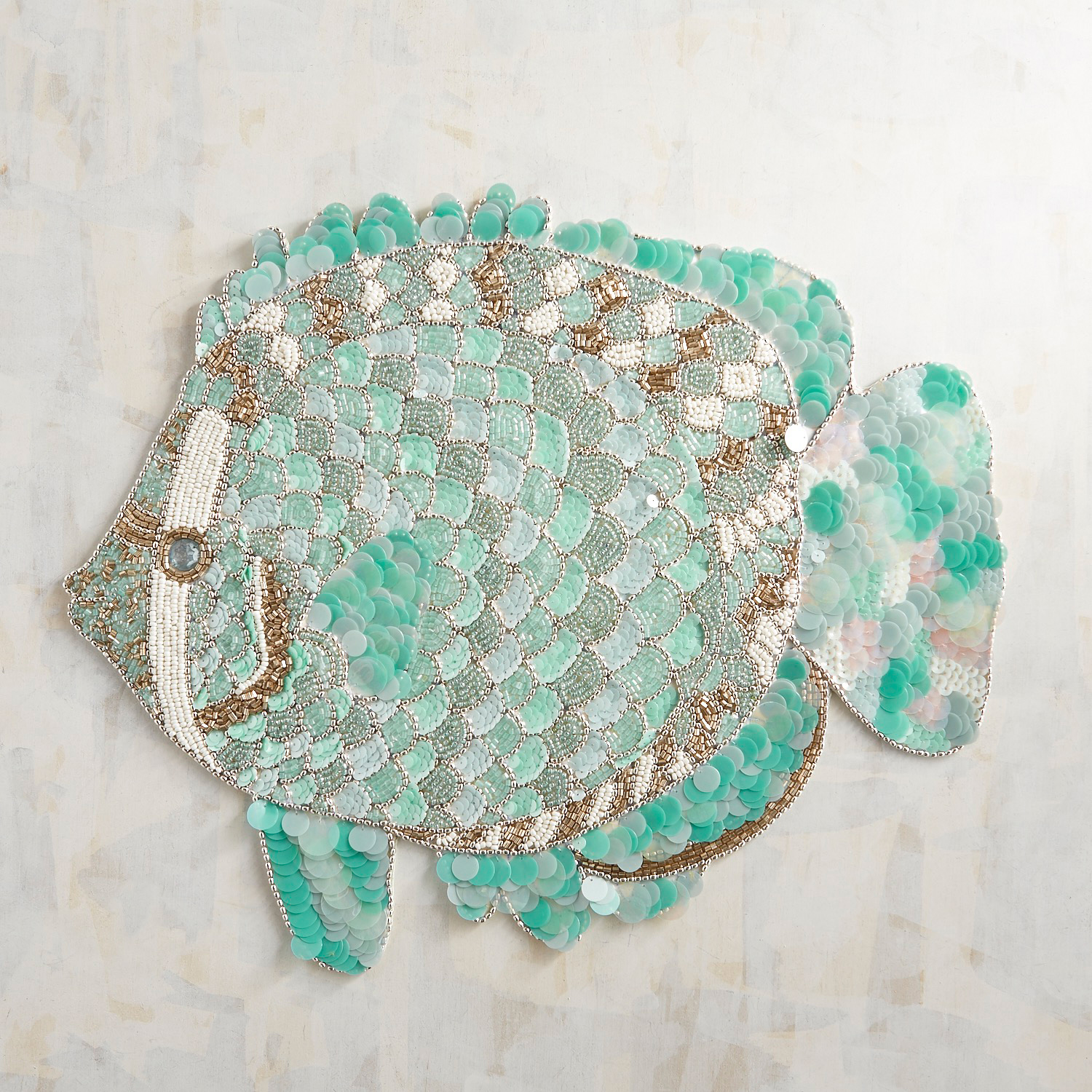 Shimmering Fish Beaded Placemat