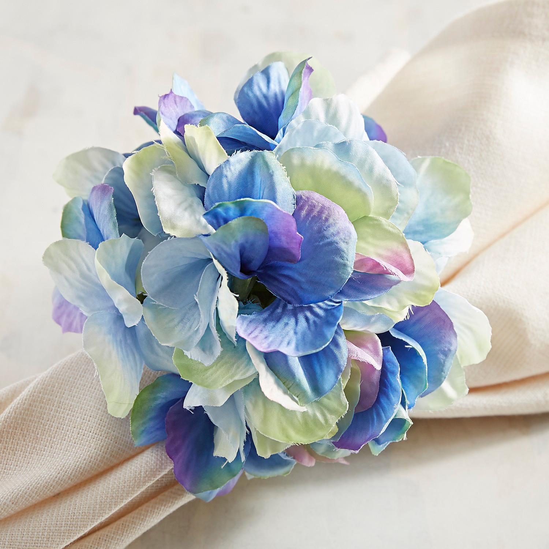 Blue & Green Hydrangea Napkin Ring