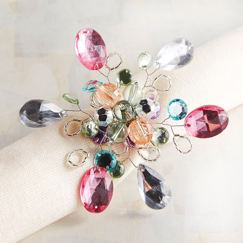 Spring Spray Beaded Napkin Ring