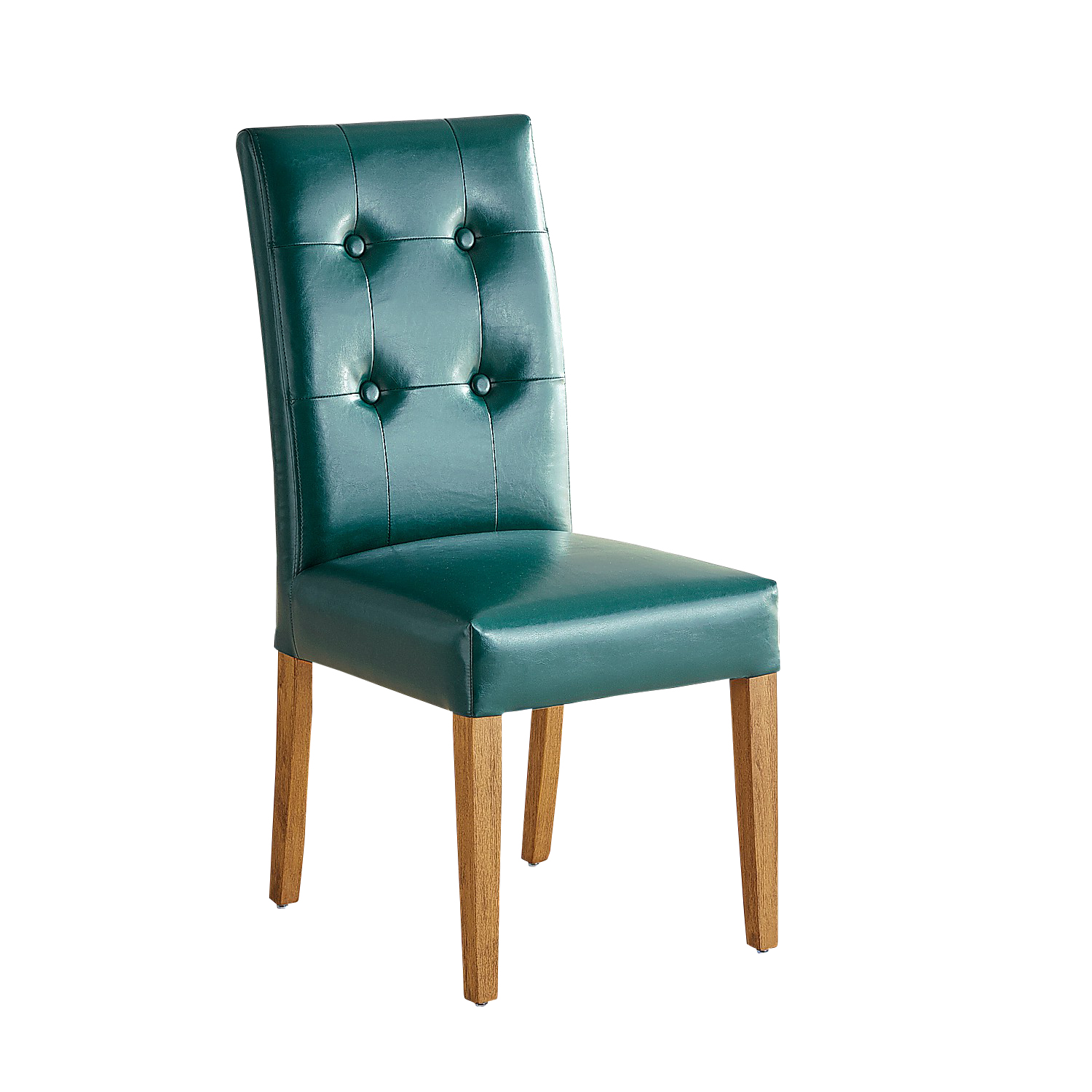 Mason Teal Dining Chair with Java Legs