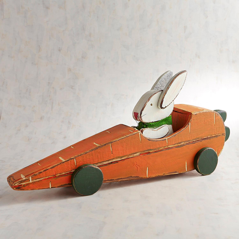 Bunny & Carrot Racer Decor