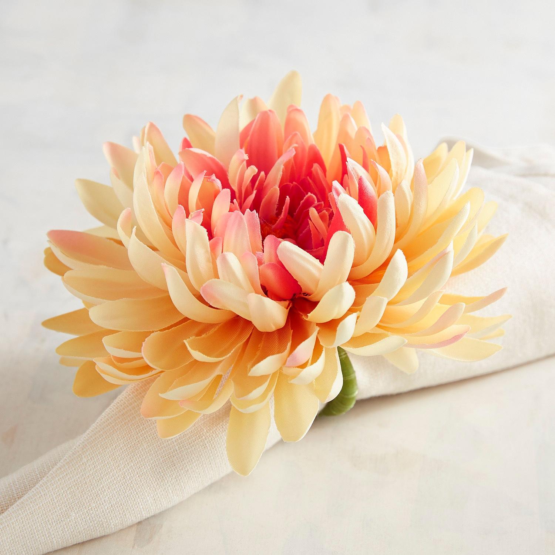 Pink & Cream Daisy Napkin Ring