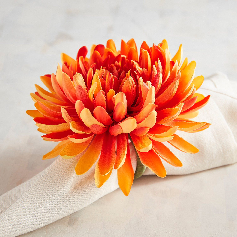 Orange Daisy Napkin Ring