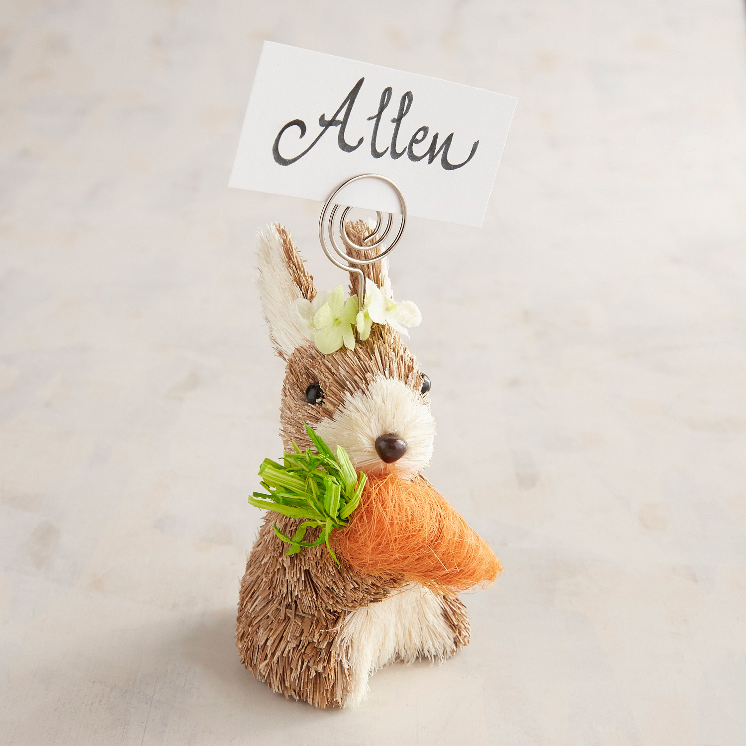Bunny with Carrot Place Card Holder