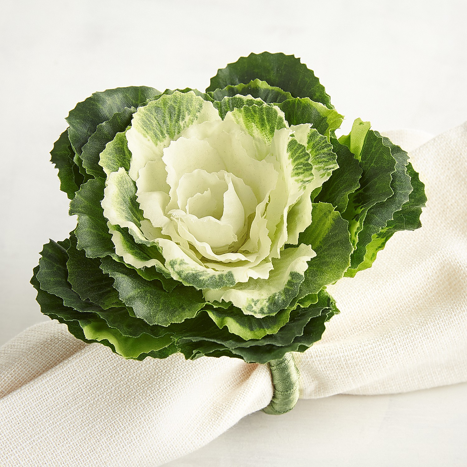Cabbage Leaves Napkin Ring