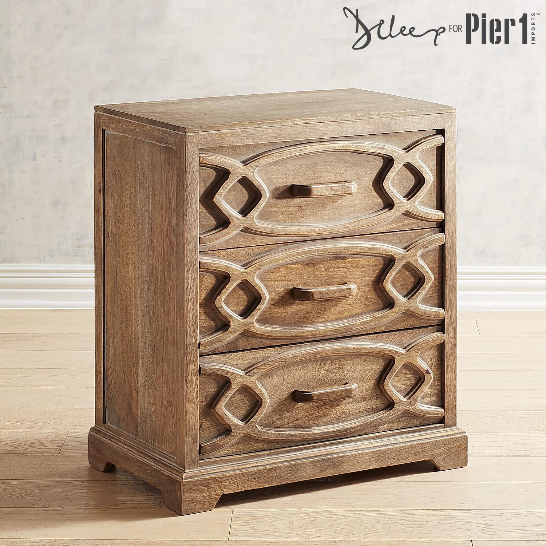 Rachel Hand-Carved Wooden Cabinet
