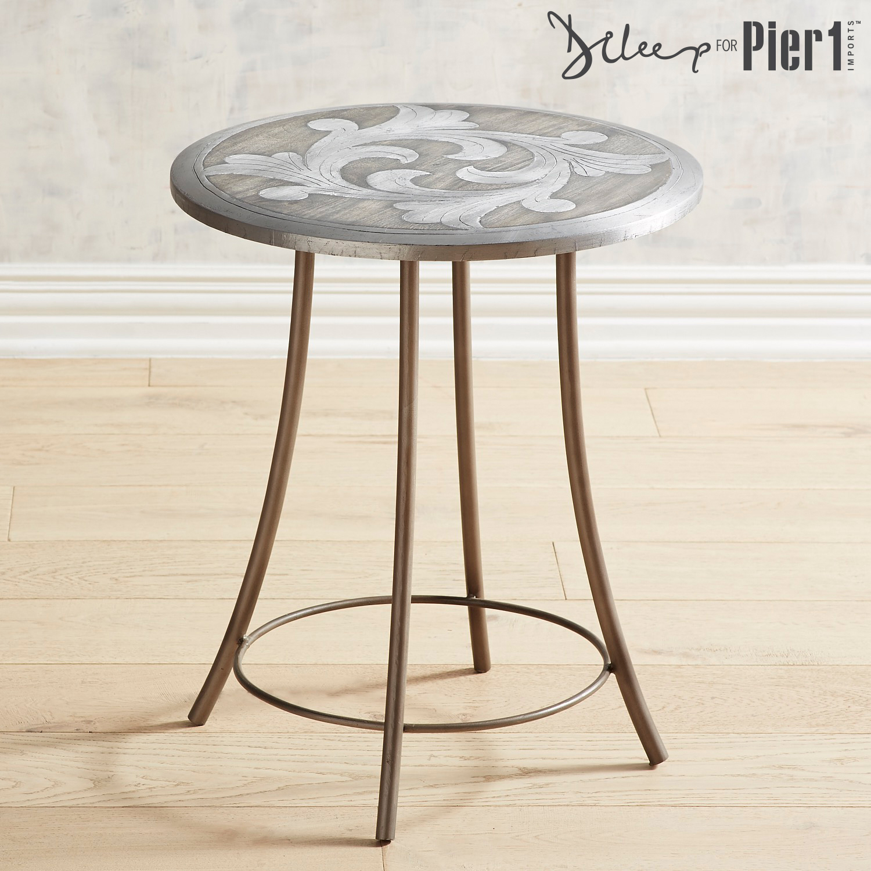 Flourish Wooden Side Table