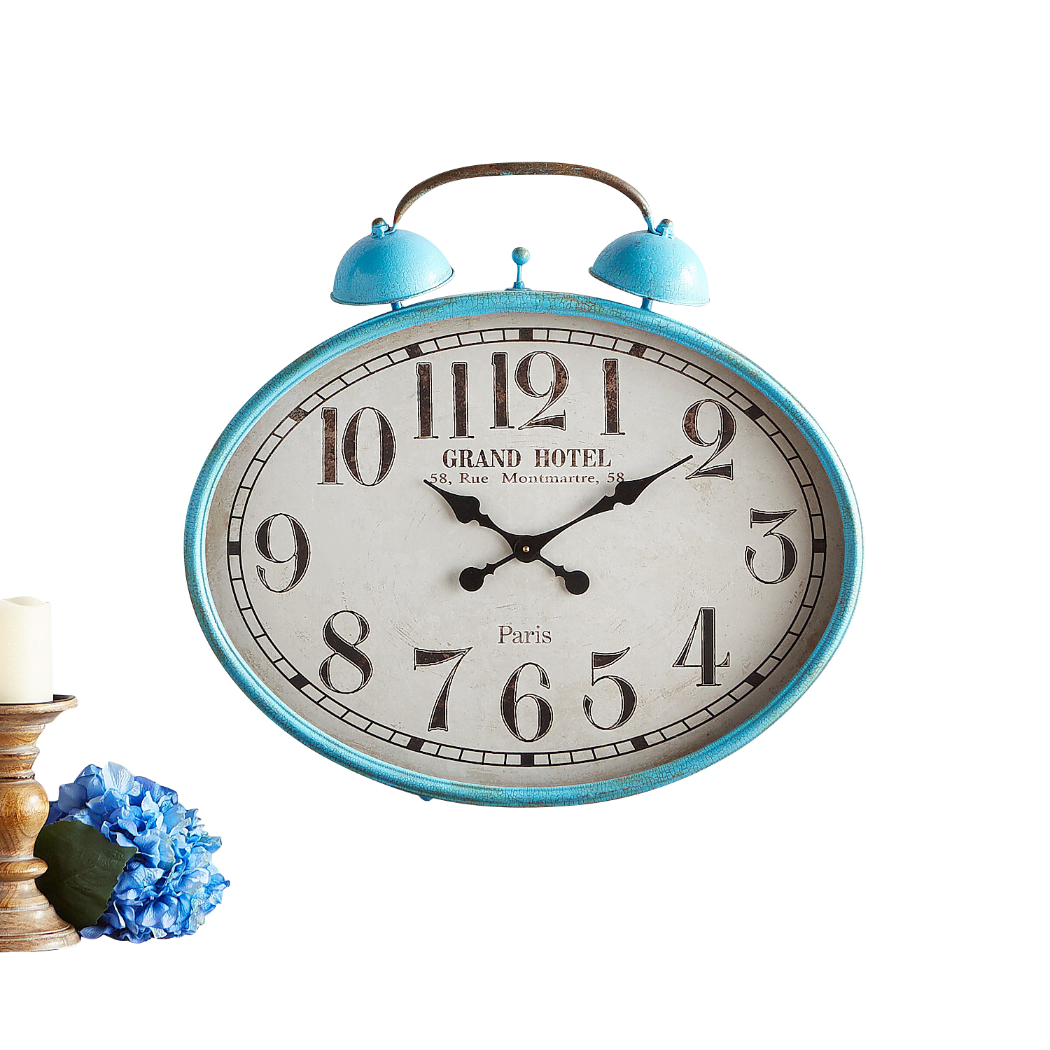Turquoise Retro-Style Wall Clock