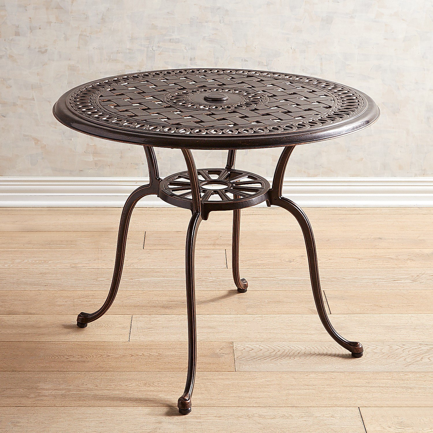 """Bronze 36"""" Chat Table"""