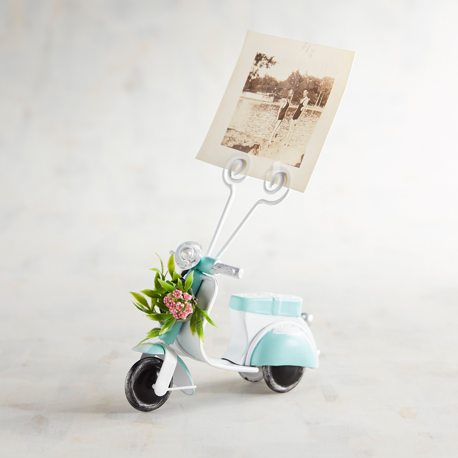 Blooming Scooter Clip Photo Frame