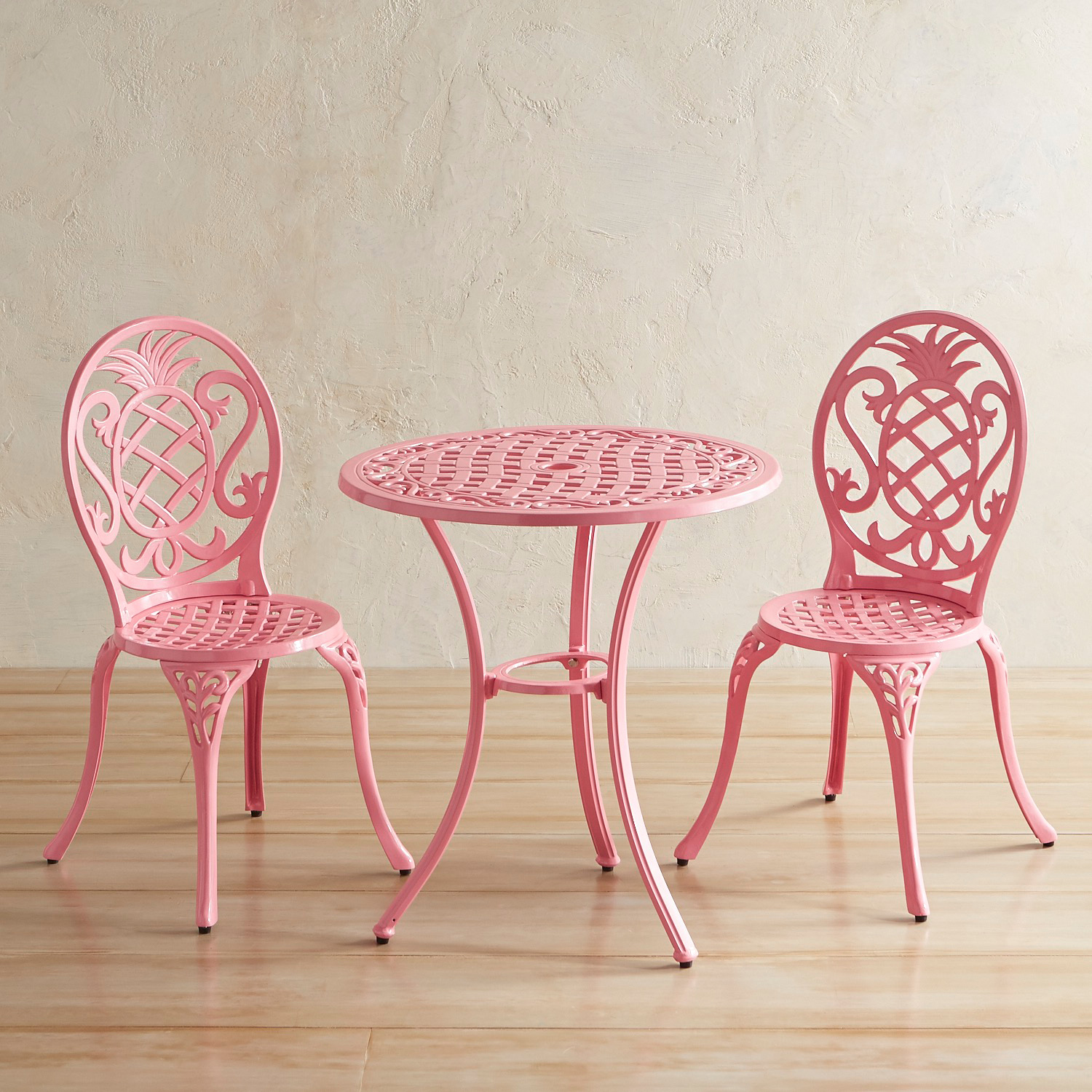 variation thumbnail of Isla Pink Cast Aluminum Bistro Set