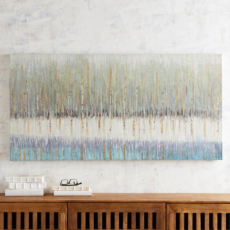 Dripping Horizon Canvas Wall Art