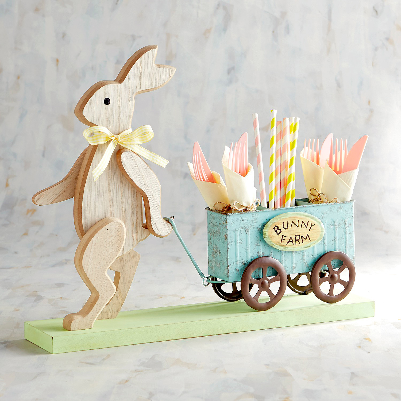 Easter Bunny Farm Utensil Caddy
